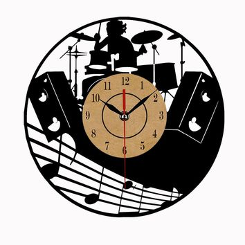 Super Cool Vinyl Record Wall Clock  Theme Art CD Clock Watch Creative Horloge Home