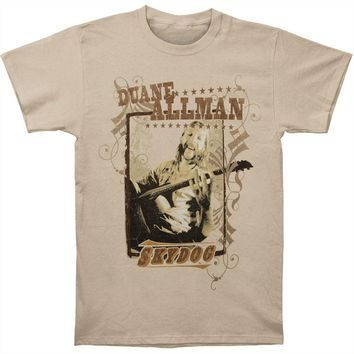 Allman Brothers Men's  Duane Allman Sky Dog T-shirt Natural