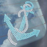 Anchor Rhinestone Car Decal by theblingdiva1 on Etsy