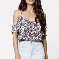 LA Hearts Cold Shoulder Cropped Top - Womens Shirts