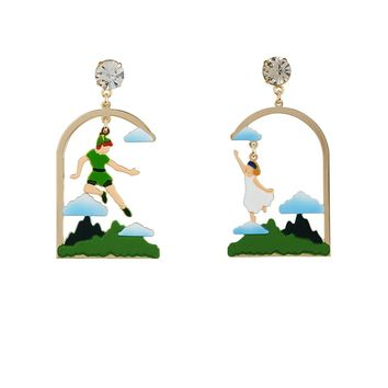 "N2 by Les Néréides FLY WITH ME ""How to jump on the wind's back"" EARRINGS"