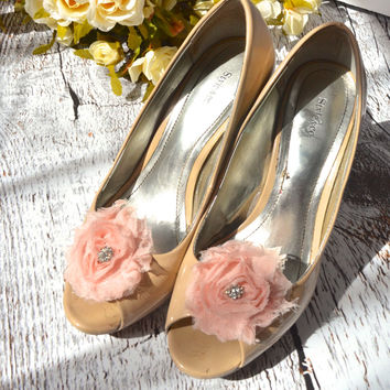 Blush Pink Flower shoe clips
