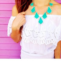 Kensey Statement Necklace in Teal - Kendra Scott Jewelry