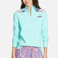 Women's Vineyard Vines 'Harbor Madras' Quarter Zip Pullover,