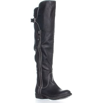 AR35 Duncan Over Knee Fashion Boots, Black, 7 US