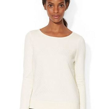 Lauren Ralph Lauren Quilted Cotton Blend Top