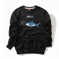 Shark Embroidered Unisex Sweatshirt
