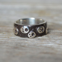 Nightwanderer, Ghosts and Stars in the Night Sky, Sterling Silver ring.