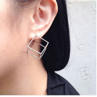 Accessory Strong Character Geometric Stylish Ladies Earring Sponge [4918494084]