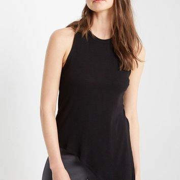 Maryn Asymmetrical Ribbed Tank Top