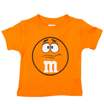 M&M's Candy Character Face T-Shirt - Toddler - Orange - 4T