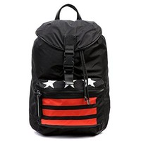 Wiberlux Givenchy Unisex Star And Stripe Accent Top Flap Backpack