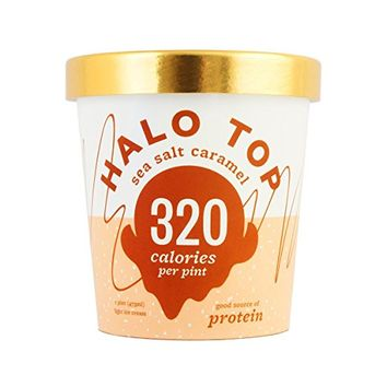 Halo Top Sea Salt Caramel, 16 oz (Frozen)