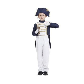 DCCKH6B M-XL Fantasia Boys Napoleon Cosplay showing dress kids Children Halloween Spain United Kingdom Navy uniform costume Disfraces