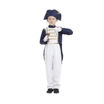 ONETOW M-XL Fantasia Boys Napoleon Cosplay showing dress kids Children Halloween Spain United Kingdom Navy uniform costume Disfraces