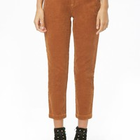 Corduroy High-Rise Pants