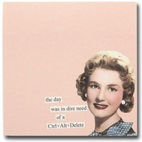 'Ctrl + Alt + Delete' Sticky Notes | Cute Office Accessories, Desk Accessories, Funny, Post it Notes, Anne Taintor, Witty, Ladies, Desk, Office Gift | Catching Fireflies