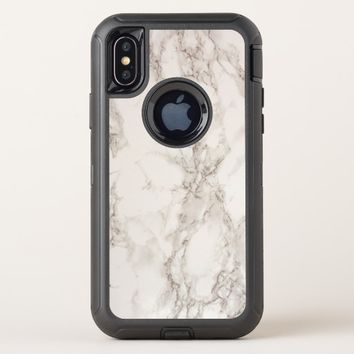 Marble Stone OtterBox Defender Apple iPhone X Case