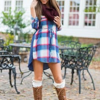 The Polly Plaid Dress, Blue/Pink