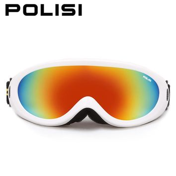 POLISI P-313-WH Ski Snowboard ATV Motorcycle Motocross Goggles Off-Road Dirt Bike Racing Eyewear Airsoft Paintball ski lens