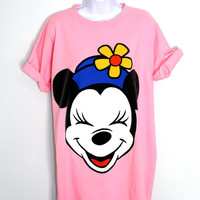 VTG 80's 90's Club Kid New Wave Minnie Mouse T-Shirt
