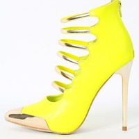 Date-Night Strappy Neon Pumps | MakeMeChic.com