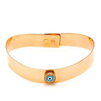 JAPSIS JEWELLERY | 18k Gold Evil Eye Bracelet with White Diamonds | brownsfashion.com | The Finest Edit of Luxury Fashion | Clothes, Shoes, Bags and Accessories for Men & Women
