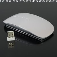 TopCase White USB Optical Wireless Mouse for Macbook (pro,air) and All Laptop