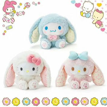 Japan Anime Easter My Melody Hello Kitty Cinnamoroll Dog Plush Toys Cute Cartoon Soft Stuffed Animal Dolls Girls Children Gifts