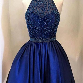 Royal Blue Alter Homecoming Dresses