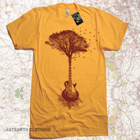 Guitar Tree Music mens T Shirt - American Apparel Tshirt - S M L Xl and Xxl (7 Color Options)