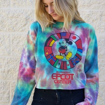 Disney Epcot Crop Sweatshirt
