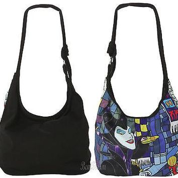 Licensed cool DISNEY SLEEPING BEAUTY MALEFICENT STAINED GLASS DIABLO Hobo Bag CrossBody Purse