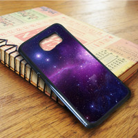 Beautiful Blue Purple Galaxy Samsung Galaxy S6 Edge Case
