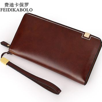 Bag Men clutch Bags Luxury Male Leather Purse Clutch Wallets Handy Bags Man Wallets