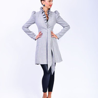 Lena  jacket with puffed up shoulders