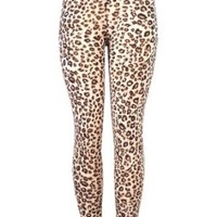 Plus Size Sexy Leopard Cheetah Print Tight Skinny Stretch Legging Pant