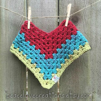 Crochet Toddler Poncho~Ready to Ship~FREE SHIPPING