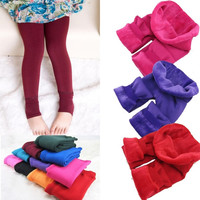 Fashion Girls Kids Cotton Warm Pant Thickening Children's Trousers Legging 2-7 Year Olds = 1929693380