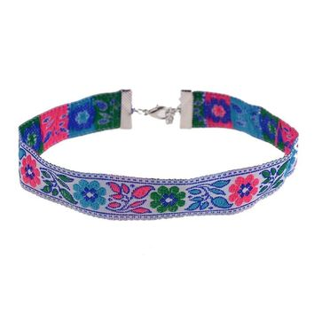 Felicity Embroidered Choker
