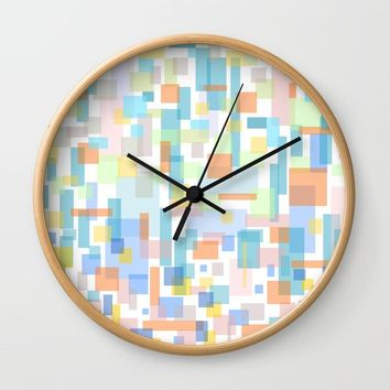 zappwaits-watercolor Wall Clock by netzauge