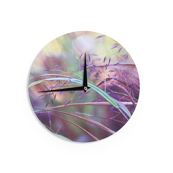"Sylvia Cook ""Pretty Grasses"" Wall Clock"