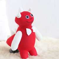 Handmade plush  Dinosaur  stuffed animal baby Home Decor toys soft dolls