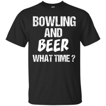 Premium T-Shirt Funny Fun Bowling And Beer What Time Sport