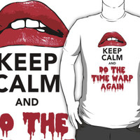 Limited Edition 'Keep Calm and Do The Time Warp Again' Lips T-Shirt