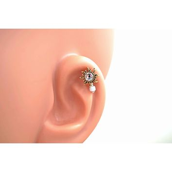 Sun Gold Cartilage Earring Tragus Helix Piercing