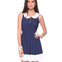 Contrast Peter Pan Dress