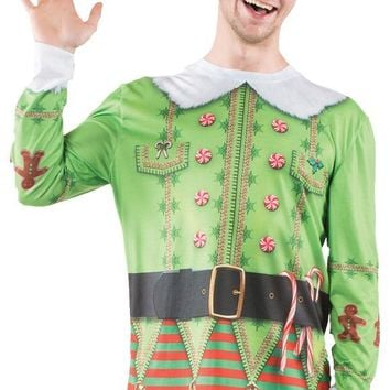 Ugly Christmas Elf Sweater Xxl Costume