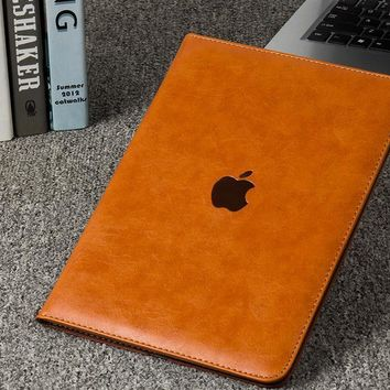 Litchi Pattern Flip Leather Smart Case Cover for iPad