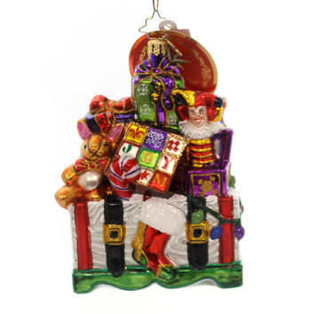 Christopher Radko TREASURES FOR TOT Glass Toy Chest Gifts 1018396